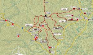 津市 名山 経ヶ峰の登頂ルート